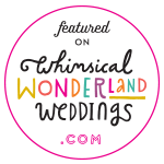 featured on whimsical wonderland weddings blog