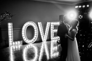 Love sign first dance wedding