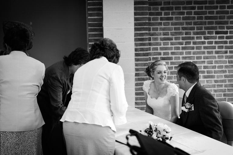 bride groom signing register