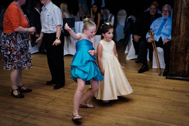 wedding little girl air guitar