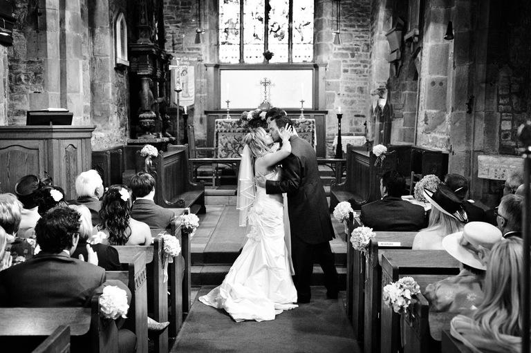 first kiss church wedding