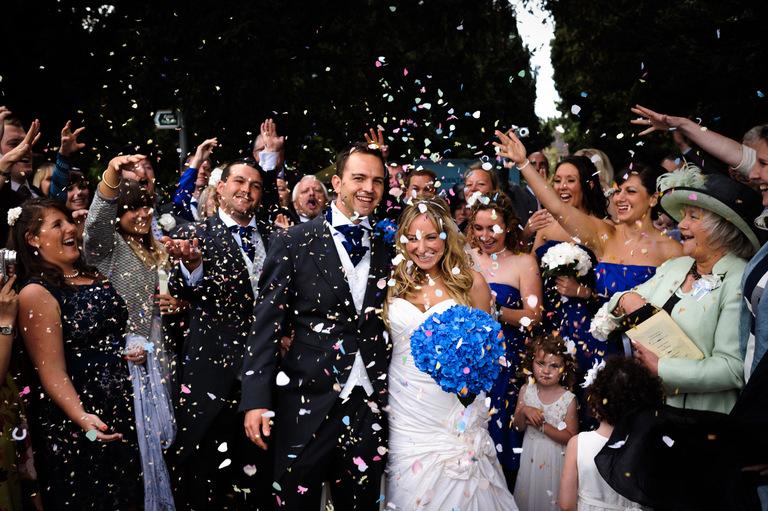 denby village wedding confetti