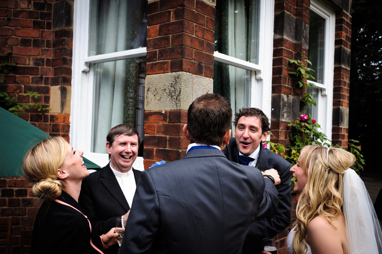 laughter wedding guests