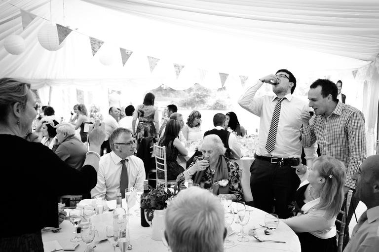 wedding guests jaeger shots
