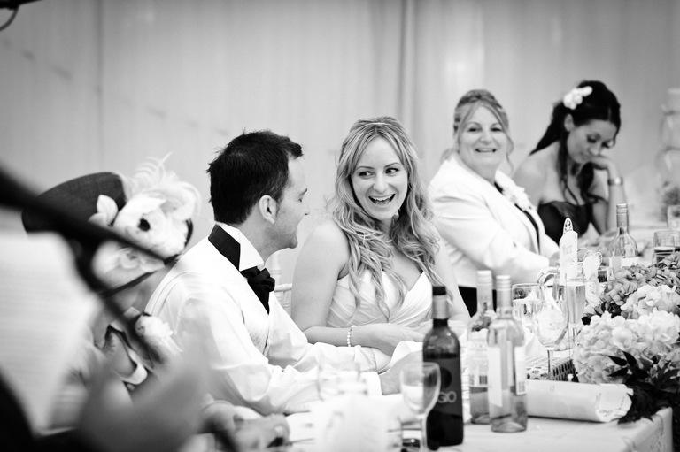 happy bride with her groom