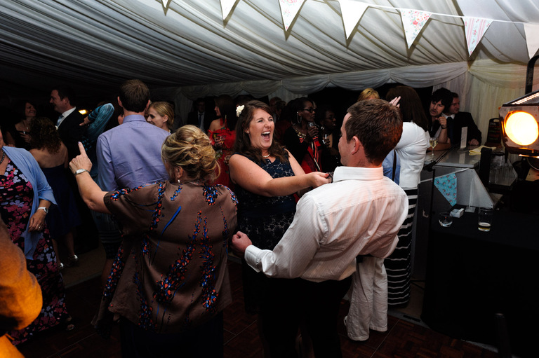 lively wedding reception dancing