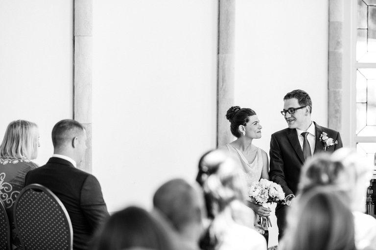 happy couple highcliffe castle wedding