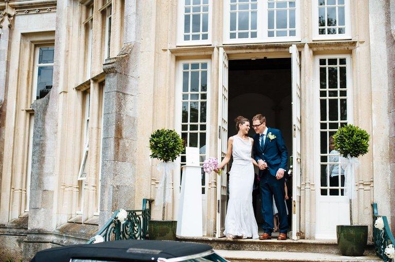 highcliffe castle bride and groom wedding
