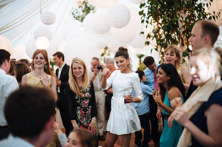bride dancing with her girlfriends