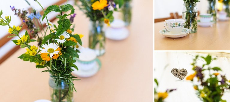 wildflower wedding details