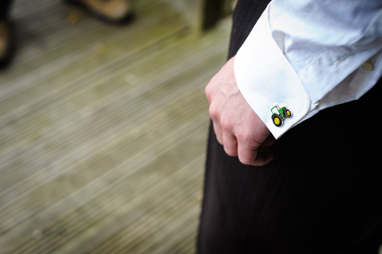 groom tractor cufflinks
