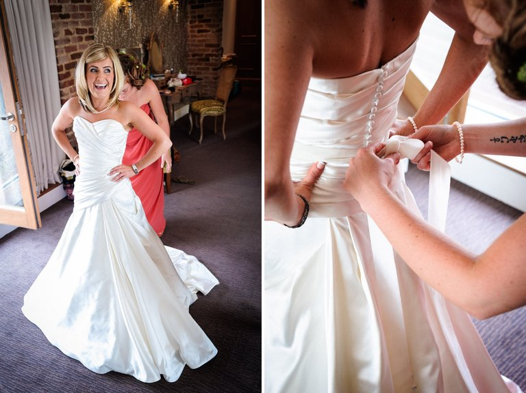 beautiful bride in her wedding dress