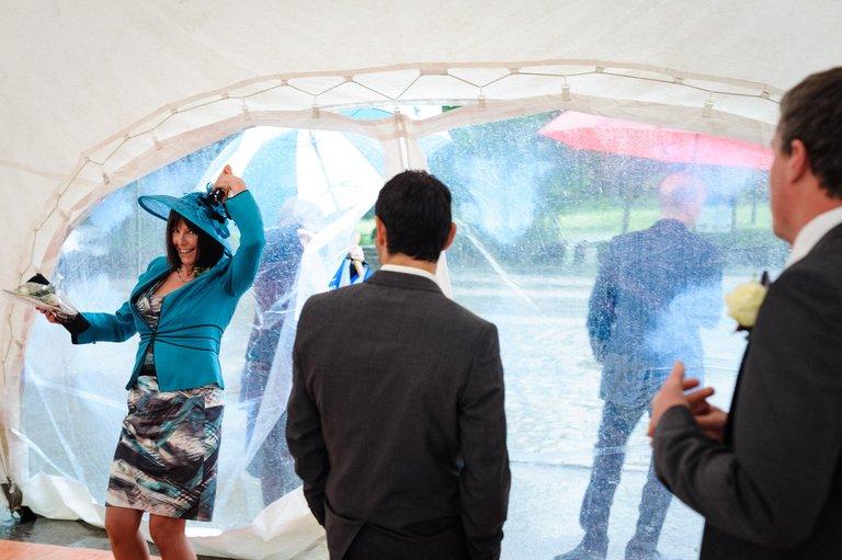 a wet wedding in lancashire