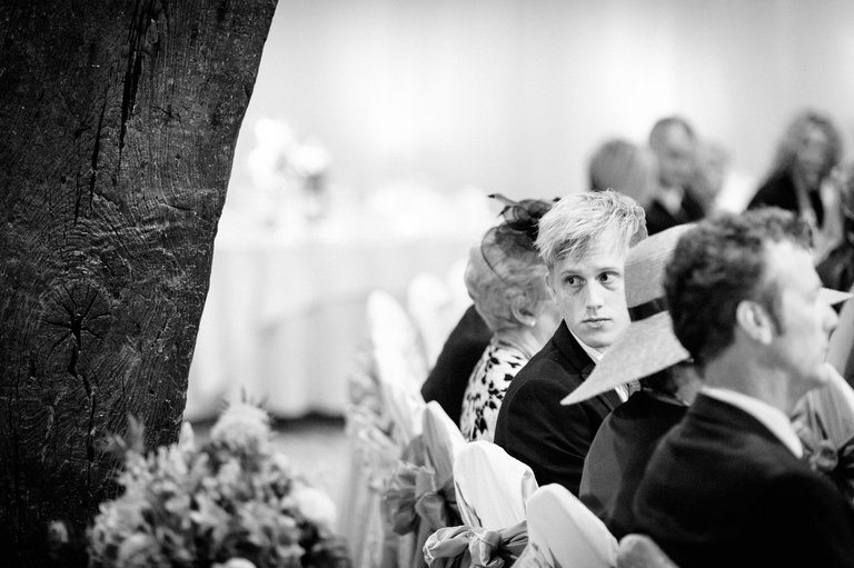 wedding guests waiting