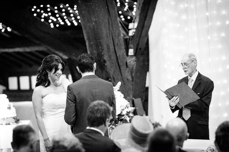 bride and groom rivington barn