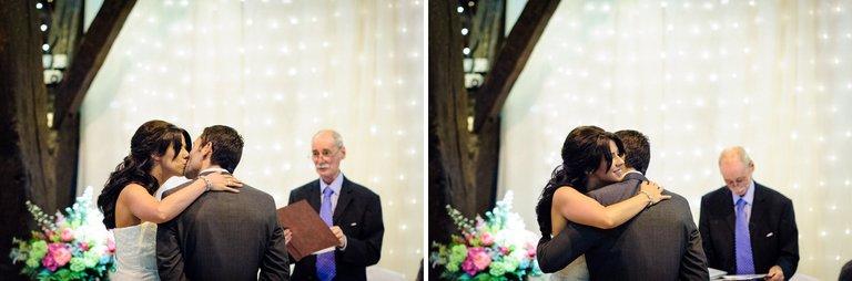 first kiss rivington barn wedding