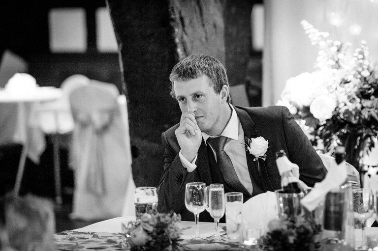 nervous looking best man before his speech