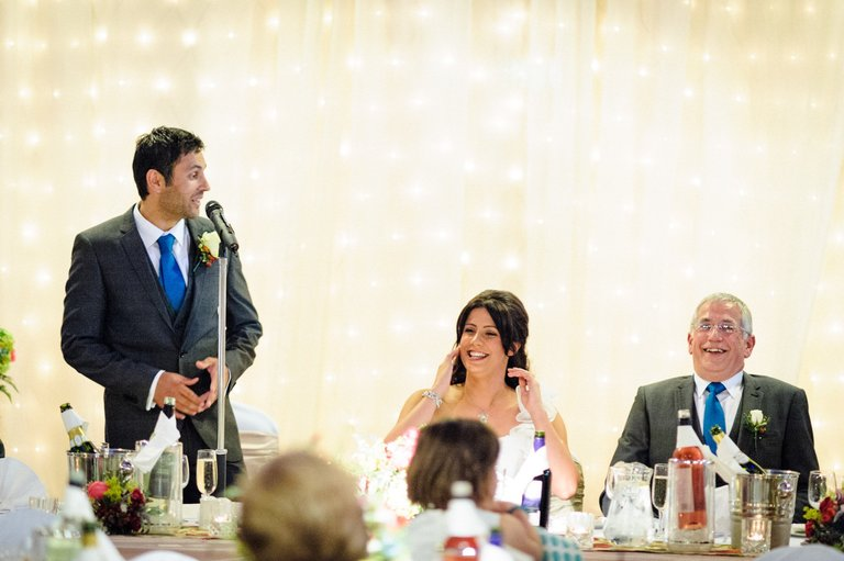 groom's speech at rivington barn lancashire