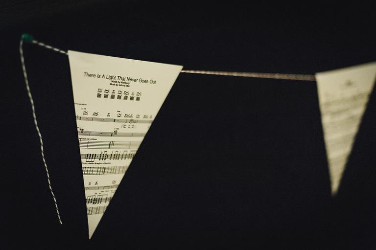 sheet music wedding bunting