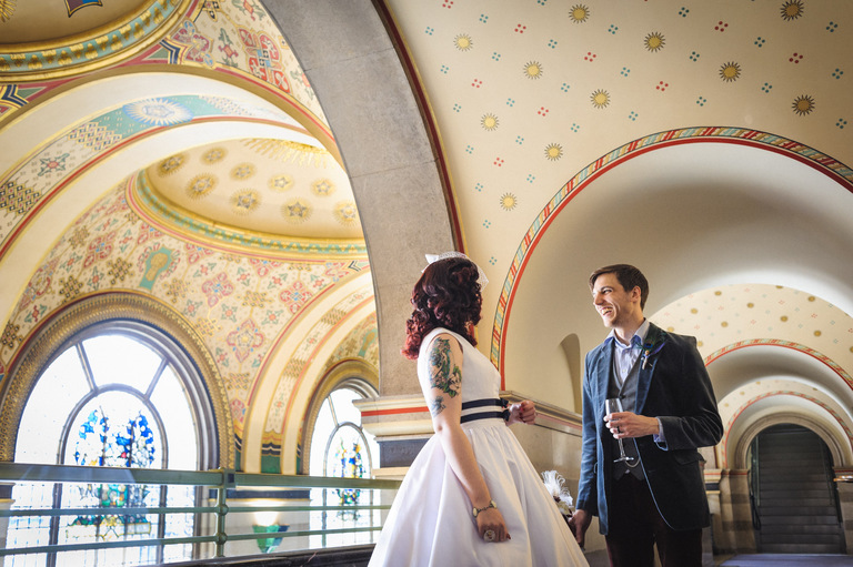 natural wedding portraits sheffield city hall