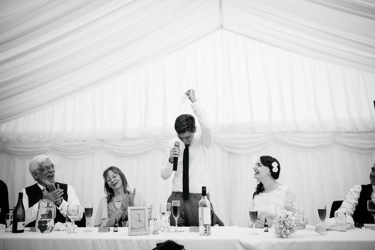 triumphant groom