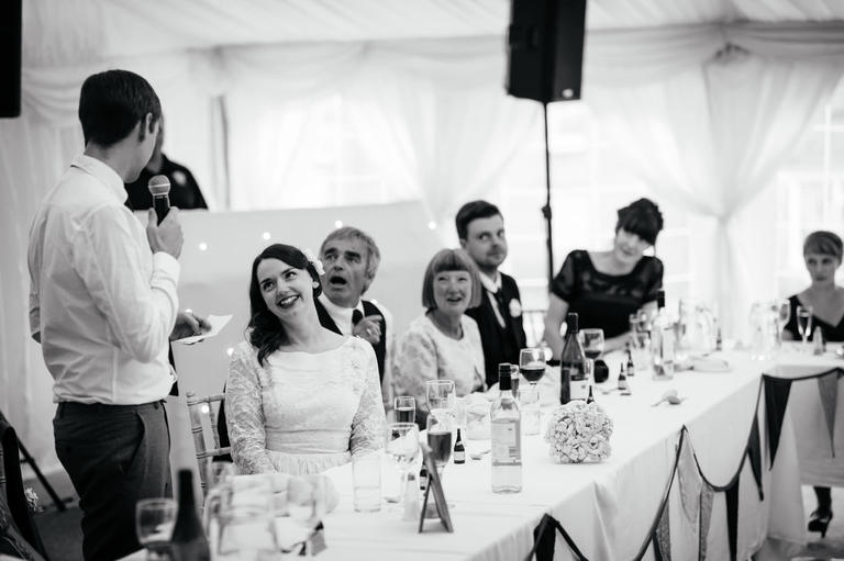 crowd reactions to the wedding speeches