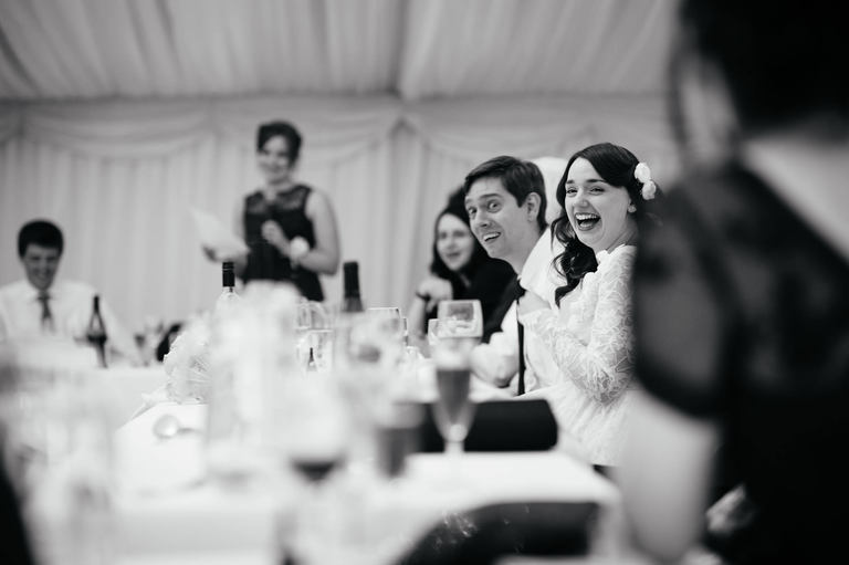 great reactions during wedding speeches