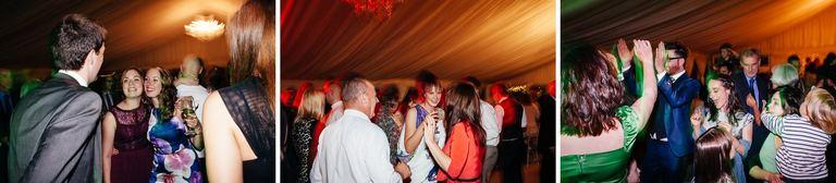wedding marquee reception dancing