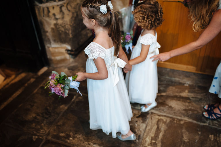 flower girls white dresses