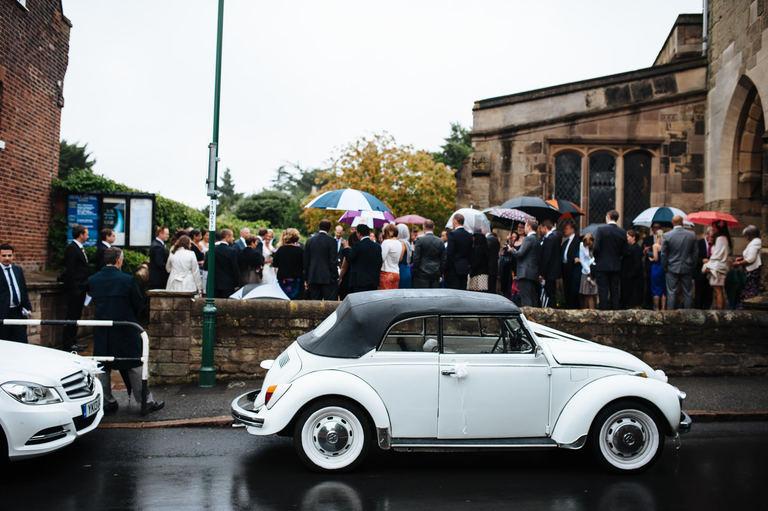 wedding car convertible volkswagen beetle
