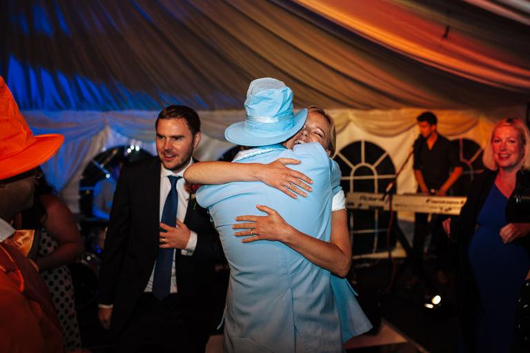 wedding night hugs