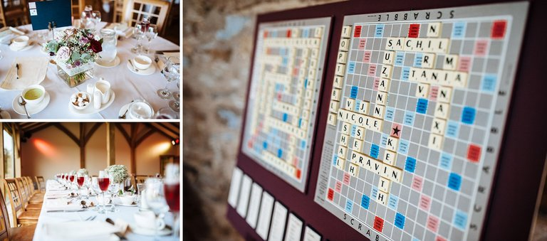 wedding details scrabble seating plan