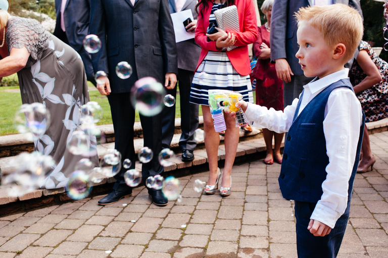 little boy wedding bubbles