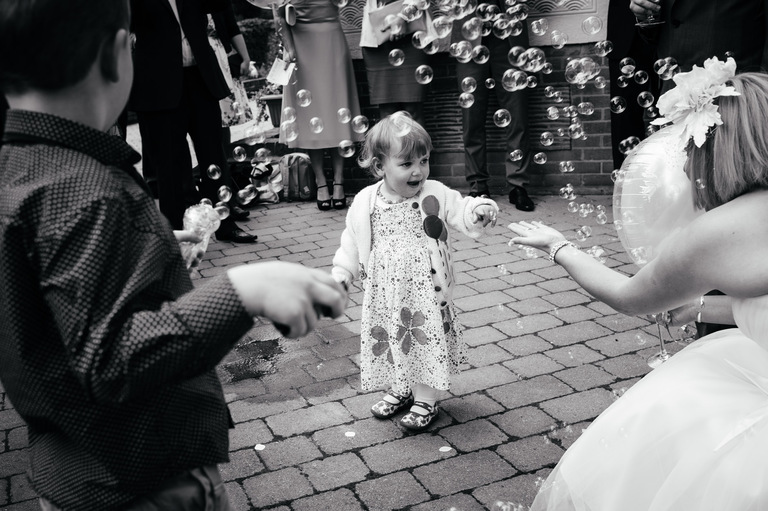 little girl at a wedding