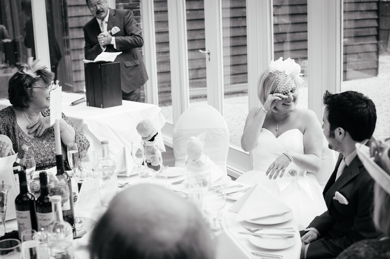 bride tears wedding speeches