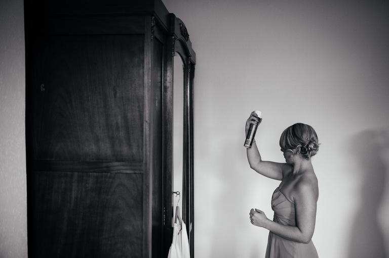 bridesmaid hairspray