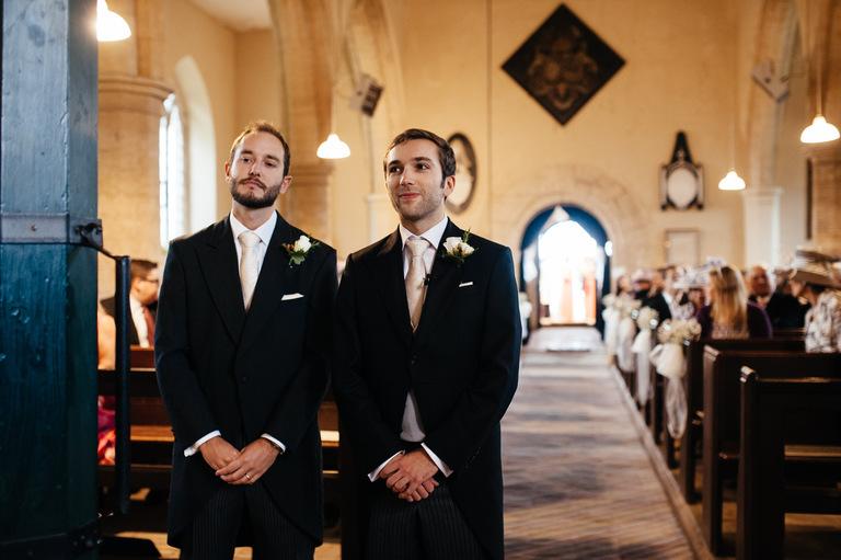 nervous groom altar