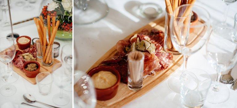 wedding table starters platter
