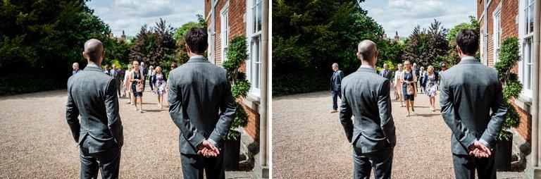 groom best man greeting guests
