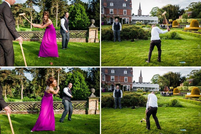 wedding guests croquet lawn games