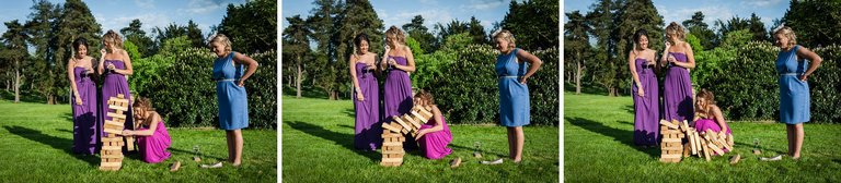 wedding guests jenga game