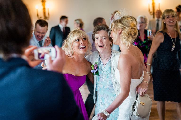 bride bridesmaid grandma