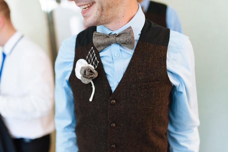 groom vintage waistcoat bowtie