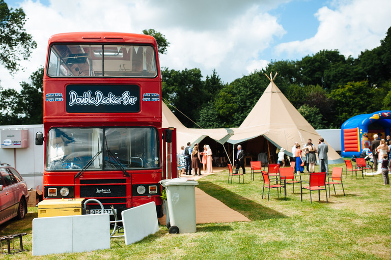 tipi wedding photography red bus