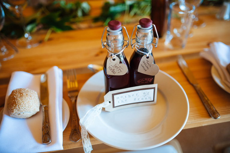 tipi wedding place settings