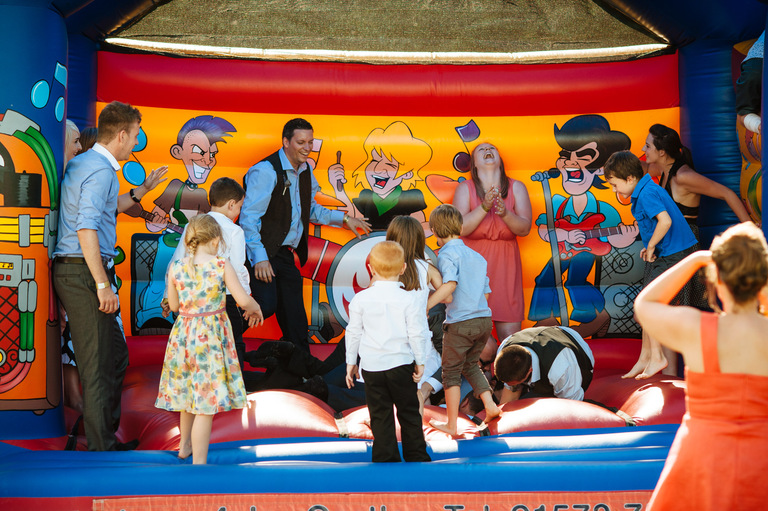bouncy castle festival theme wedding