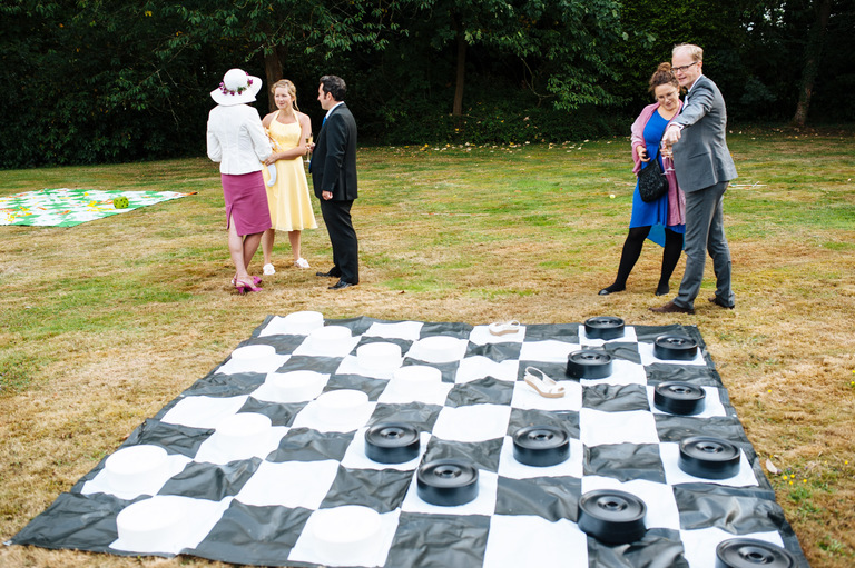 outdoor wedding games chess