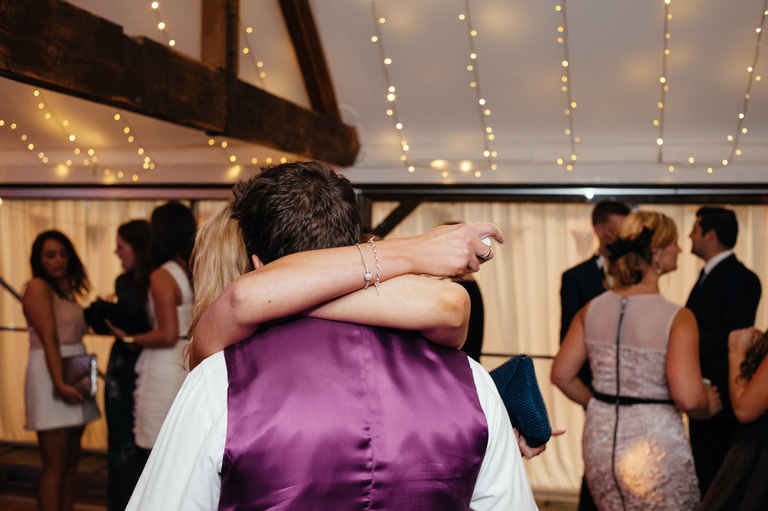 wedding dance floor hug