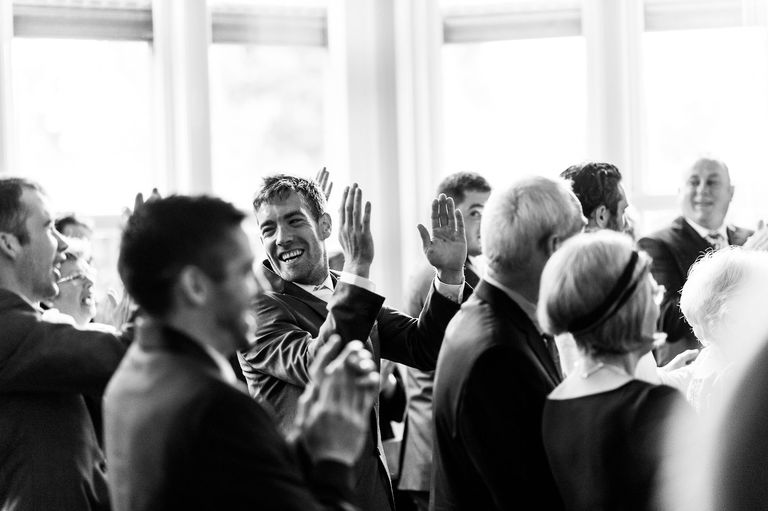applause after wedding
