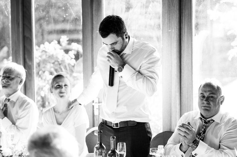 groom emotional wedding speech